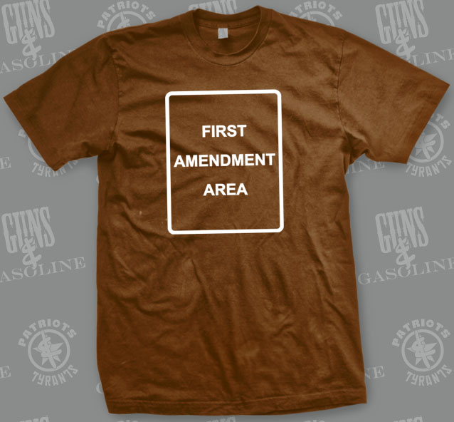 1st Amendment Area T-Shirt | Front